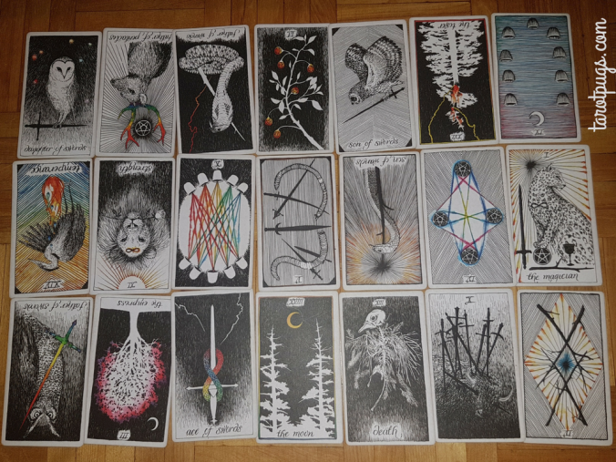 Romany Tarot Spread Tarot Pugs TarotPugs WIld Unknown