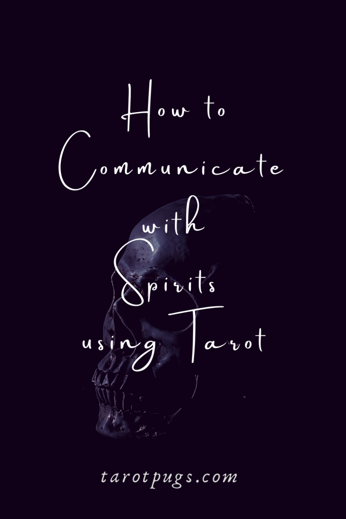 Learn how to communicate with spirits using tarot. #mediumship #tarot