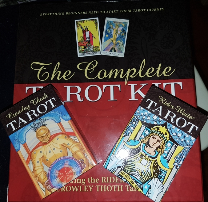 Thoth and Rider Waite tarot decks included in The Complete Tarot Kit by Susan Levitt, published by U.S. Games Systems, Inc.