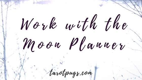 Work with the Moon Planner - A Free Planner to help you with your projects or ideas with the moon cycle.