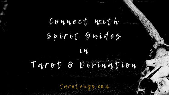 Learn how to connect with your spirit guides and other people's spirit guides through tarot and divination. #psychic #tarot #spiritguides