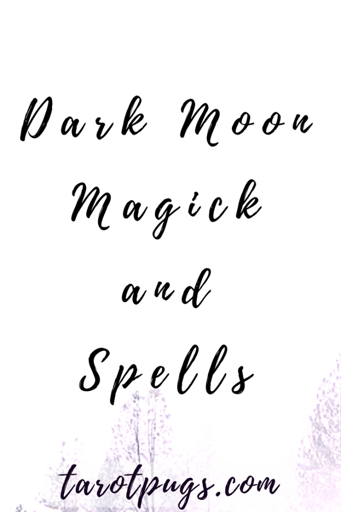 Magick and spells ideas for the dark moon phase.. Learn about the dark moon phase and magick done during this moon phase. #witchcraft #darkmoon #moon #spells #magick
