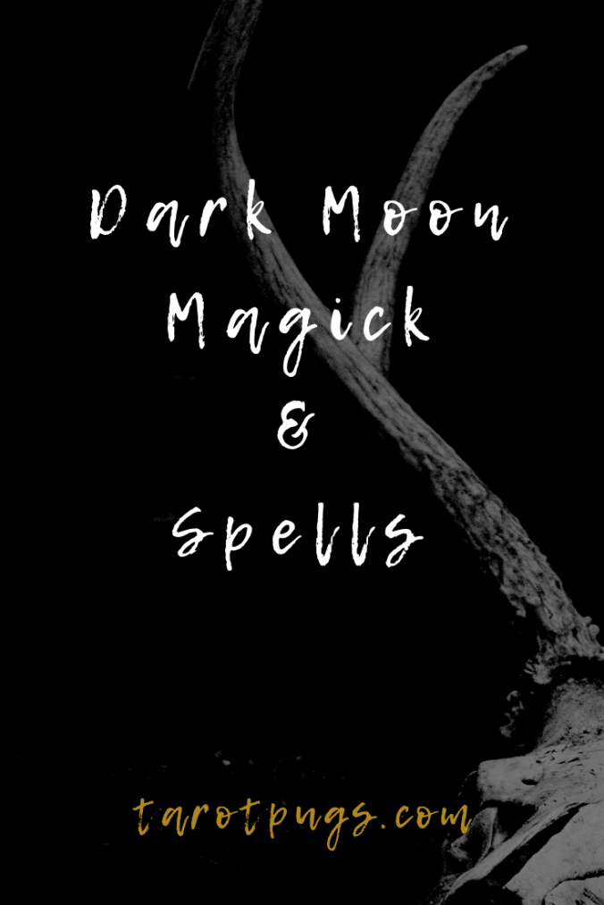 Find out how to work with the dark moon and use the dark moon in magick and spells. #witchcraft #moon #magick