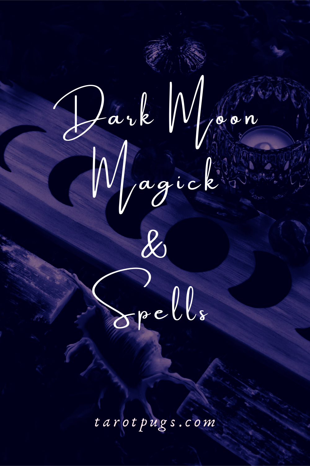 Learn how to work with the dark moon phase with these spells and magick in witchcraft. #darkmoon #magick #spells #witchcraft