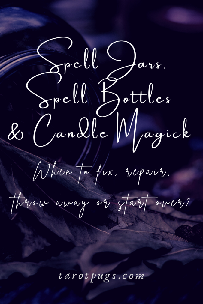 Has your spell jar or candle spell not gone as planned? Find out what to do when a spell bottle, jar or candle if it needs to be redone. #witchcraft #spells #magick
