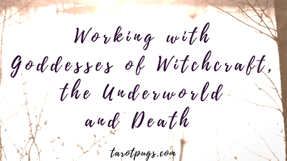 Learn about working with goddesses of witchcraft, the underworld and death. #witchcraft #darkgoddess
