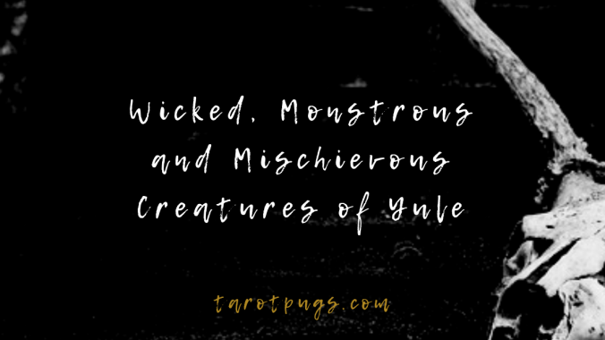 Find out more about the creatures of the Yule tide season such as Krampus, Frau Perchta, the Icelandic Yulelads and more. #witchcraft