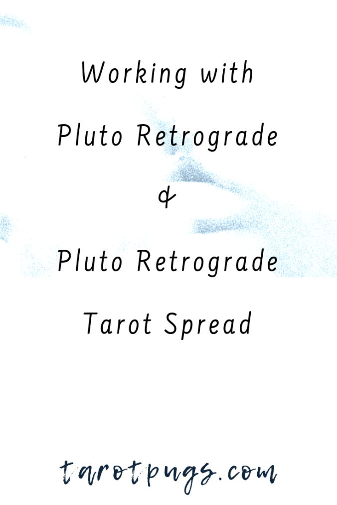 Find out how to work with Pluto / Hades and his retrograde for transformation, includes a Pluto retrograde tarot spread. #astrology #tarot