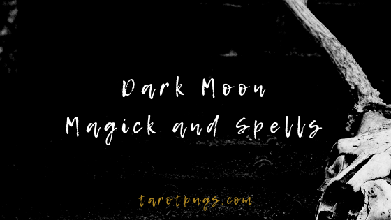 Find out how to work with the dark moon by using magick and spells. #witchcraft