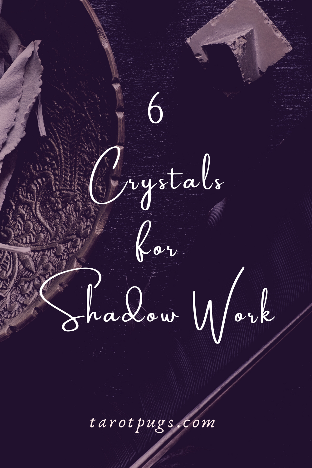 Try these six crystals for your shadow work journeys. #shadowwork #crystals