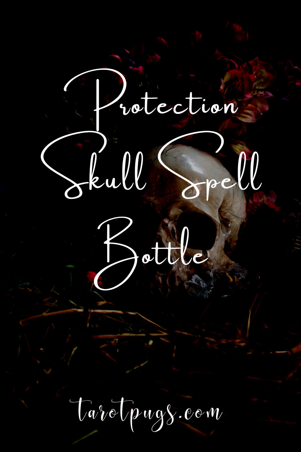 Work protection magick with this protection skull spell bottle #witchcraft #magick #spells