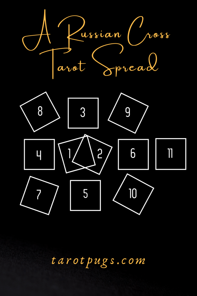 Try this Russian Cross spread adapted to a tarot reading. #tarot #russiancross #tarotspread