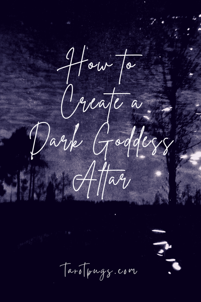 Get ideas and inspiration for how to create your own personalized Dark Goddess altar for your witchcraft / spiritual practice.